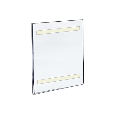11in. x 7in. Vertical Wall Mount Acrylic Sign Holder With Adhesive Tape, Clear