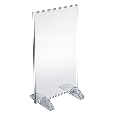 14in. x 8 1/2in. Vertical/Horizontal Dual-Stand Acrylic Sign Holder
