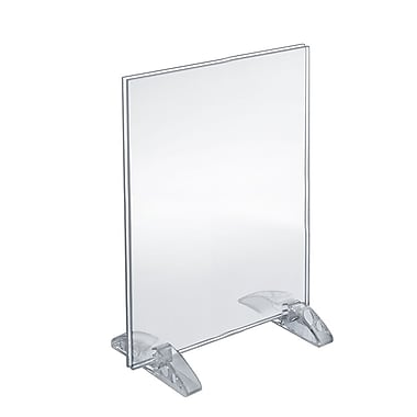 Azar Acrylic Vertical/Horizontal Dual-Stand Sign Holder , 12