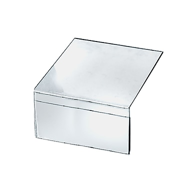 5 1/2in. x 8 1/2in. x 8in. Shelf Acrylic Sign Holder, Clear