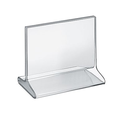 5 1/2in. x 6in. Horizontal Top Load Acrylic Sign Holder, Clear