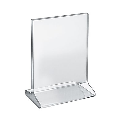 7in. x 5 1/2in. Vertical Top Load Acrylic Sign Holder, Clear