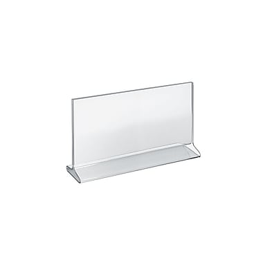 7in. x 11in. Horizontal Top Load Acrylic Sign Holder, Clear