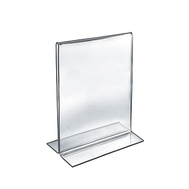 Azar® – Porte-affiche vertical double-face autoportant en acrylique, transparent 11 po x 8 1/2 po