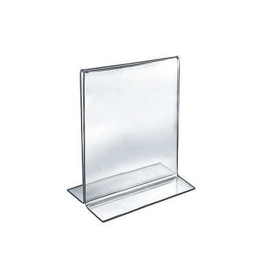 10in. x 8in. Vertical Double Sided Stand Up Acrylic Sign Holder, Clear