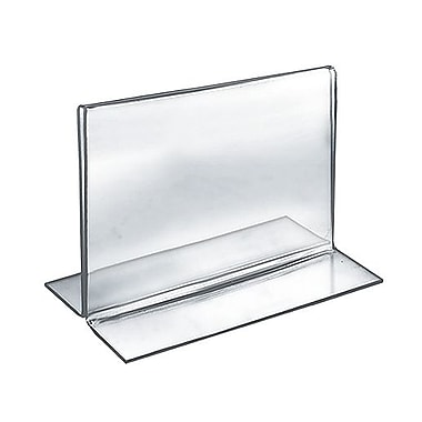 5in. x 6in. Horizontal Double Sided Stand Up Acrylic Sign Holder, Clear