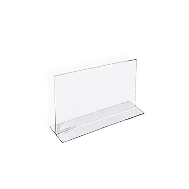 4in. x 6in. Horizontal Double Sided Stand Up Acrylic Sign Holder, Clear