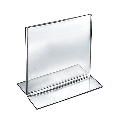 5in. x 5in. Square Double Sided Stand Up Acrylic Sign Holder, Clear