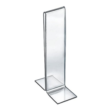 8in. x 2in. Double Foot Acrylic Sign Holder, Clear
