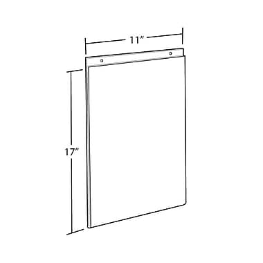 17in. x 11in. Vertical Wall Mount Acrylic Sign Holder, Clear