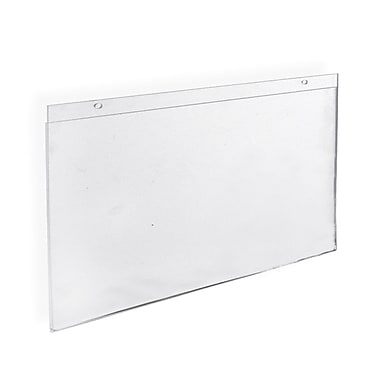 17in. x 11in. Horizontal Wall Mount Acrylic Sign Holder, Clear