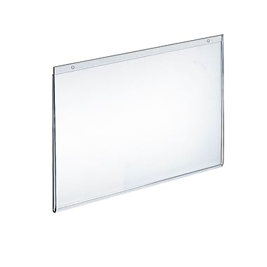 11in. x 14in. Horizontal Wall Mount Acrylic Sign Holder, Clear