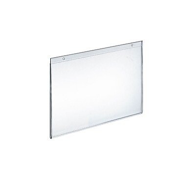 9in. x 12in. Horizontal Wall Mount Acrylic Sign Holder, Clear