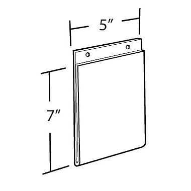 7in.(H) x 5in.(W) Wall U-Frame Holder, Clear, 10/Pack