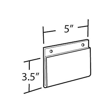 3 1/2in. x 5in. Horizontal Wall Mount Acrylic Sign Holder, Clear