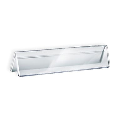2in. x 8 1/2in. Double Sided Acrylic Nameplates, Clear