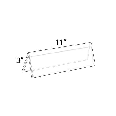 3in.(H) x 11in.(W) Double Sided Nameplates, 10/Pack