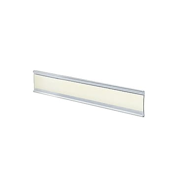 1 1/2in. x 6in. Plastic Adhesive-Back C-Channel Nameplates, Clear