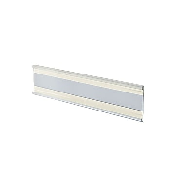 2in. x 6in. Plastic Adhesive-Back C-Channel Nameplates, Clear