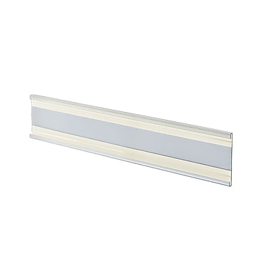 2in. x 8 1/2in. Plastic Adhesive-Back C-Channel Nameplates, Clear