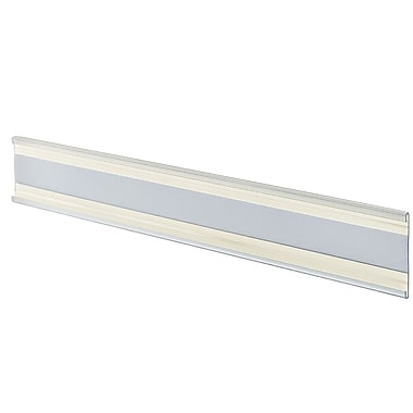 2in. x 11in. Plastic Adhesive-Back C-Channel Nameplates, Clear