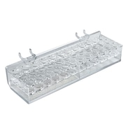 Azar Displays 36 Oval Slot Mascara & Cosmetic Tray For Pegboard, Slatwall/Counter Top, Clear