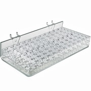 Azar Displays 96 Slot Mascara & Cosmetic Tray For Pegboard, Slatwall/Counter Top, Clear