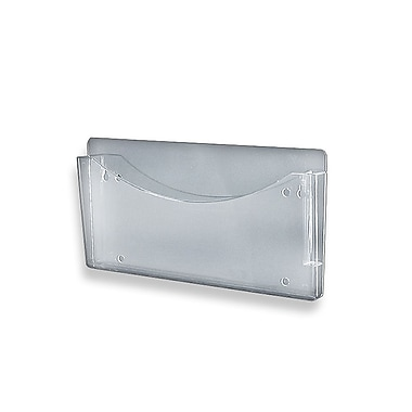 Azar Plastic Single Pocket Wall File, 7