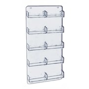 """Azar Displays 15 3/4"""" x 8 1/2"""" 10 Pocket Wall Mount Acrylic Business Card Holder, Clear, 2/Pack (252222)"""