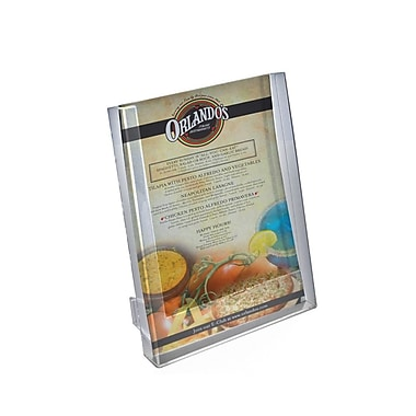 Azar Crystal Styrene Letter Size Counter Modular Brochure Holder, 1-Pocket, 10/Pack (252302)
