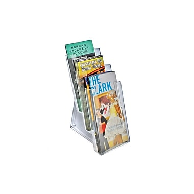 Azar® 3-Tier Tri-Fold Size Modular Brochure Holder For Counter, 2/Pack