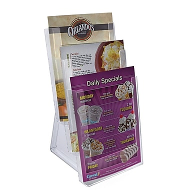 Azar® 3-Tier Bi-Fold Size Modular Brochure Holder For Counter, 2/Pack