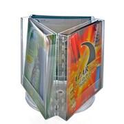 Azar Crystal Styrene Letter Size Modular Brochure Holder on a Revolving Base, 3-Pocket (252320)