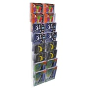 Azar Crystal Styrene Letter Size Modular Wall Mount Display, 16-Pocket (252325)