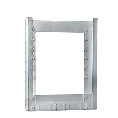 11 1/4in. x 9 1/8in. x 1 1/4in. Single Letter Wall Mount Crystal Styrene Brochure Holder