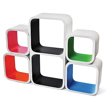 Inter-Stackable Designer Cube Shelves, 5 Piece/Set