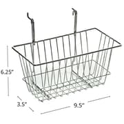 "Azar Displays Wire Basket, Chrome, 6 1/4""(H)"