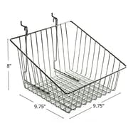 "Azar Displays Sloped Wire Basket, Chrome, 8""(H)"