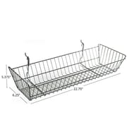 "Azar Displays Wide Slanted Chrome Wire Basket, Chrome, 5 3/8""(H)"