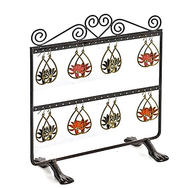 Azar Displays Double Sided 2 Rows Earring Display, Bronze