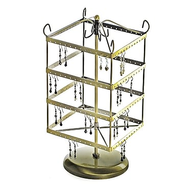 Azar® Square Rotating Earring Display, Gold