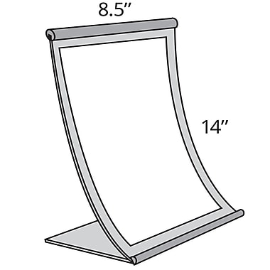 14in. x 8 1/2in. Curved Counter Metal Sign Holder