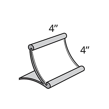 4in. x 4in. Curved Counter Metal Sign Holder