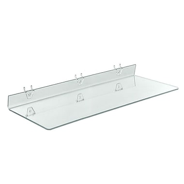24in. x 8in. Acrylic Shelf For Pegboard/Slatwall, Clear