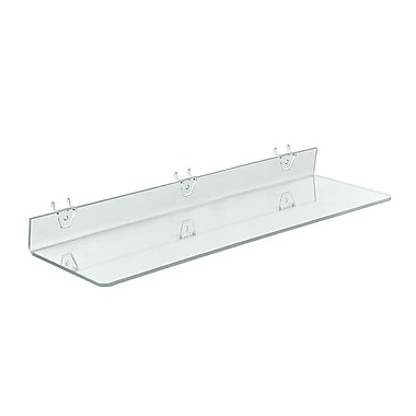 24in. x 6in. Acrylic Shelf For Pegboard/Slatwall, Clear