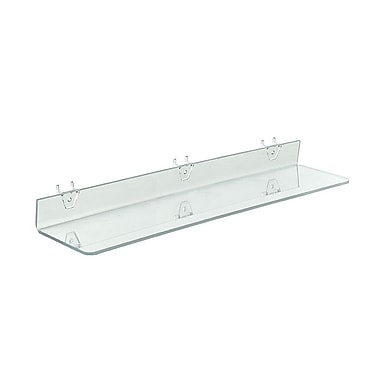 24in. x 4in. Acrylic Shelf For Pegboard/Slatwall, Clear