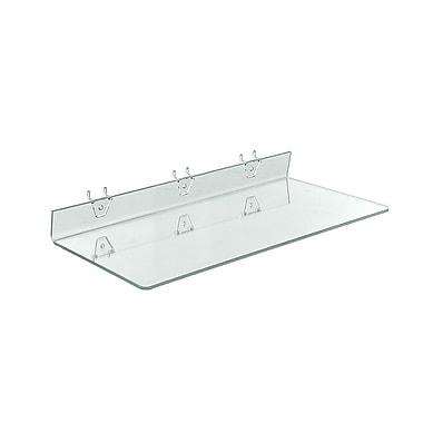 20in. x 8in. Acrylic Shelf For Pegboard/Slatwall, Clear