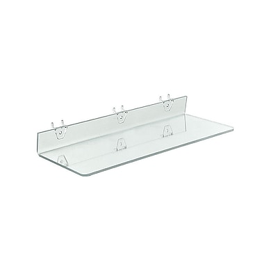 20in. x 6in. Acrylic Shelf For Pegboard/Slatwall, Clear