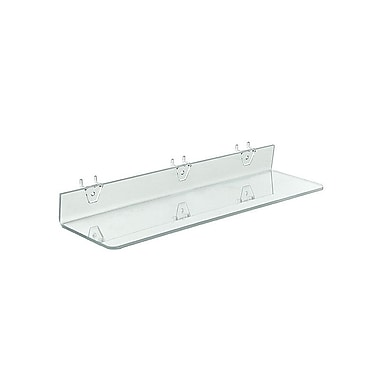 20in. x 4in. Acrylic Shelf For Pegboard/Slatwall, Clear