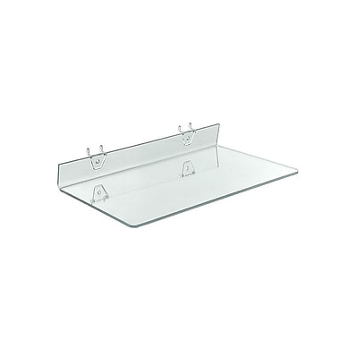 16in. x 8in. Acrylic Shelf For Pegboard/Slatwall, Clear